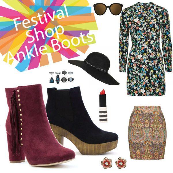 Festival Footwear Womens Ankle Boots