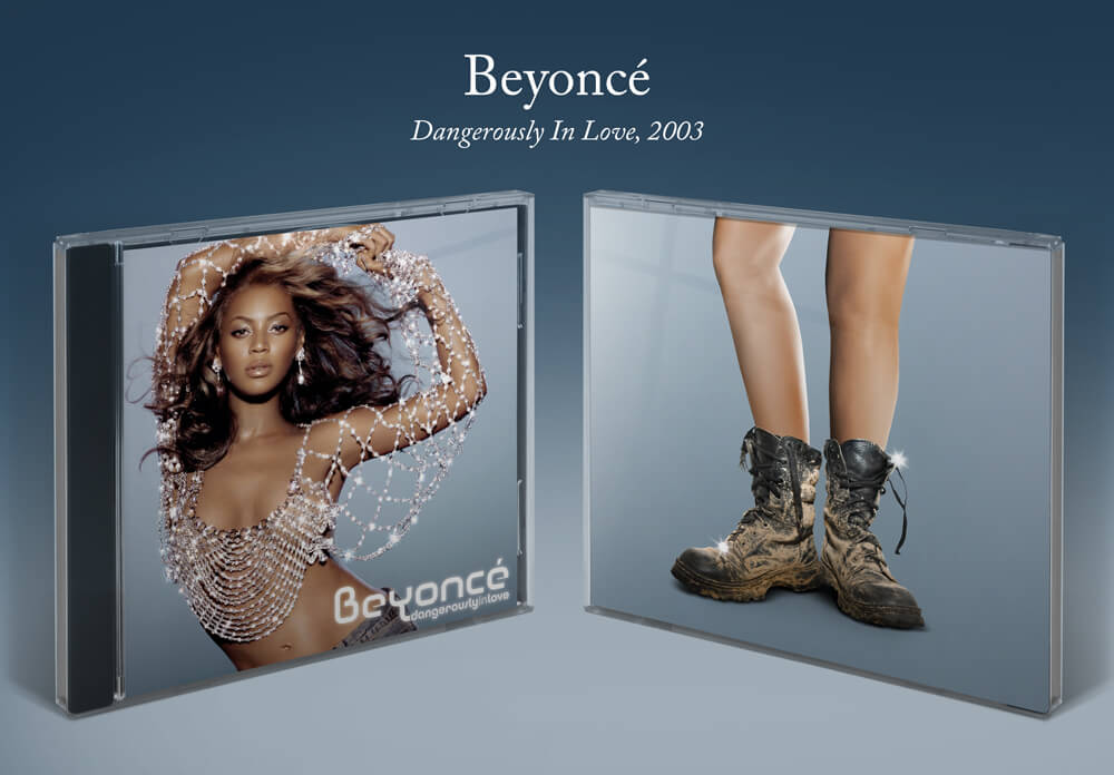 Beyoncé Dangerously in Love album cover with safety boots