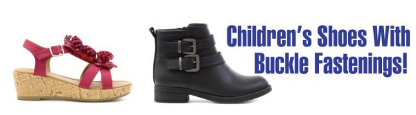 Choosing kids buckle fastened footwear