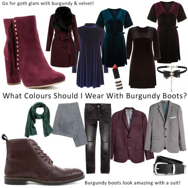 Styling-Burgundy-Boots-Womens-And-Mens