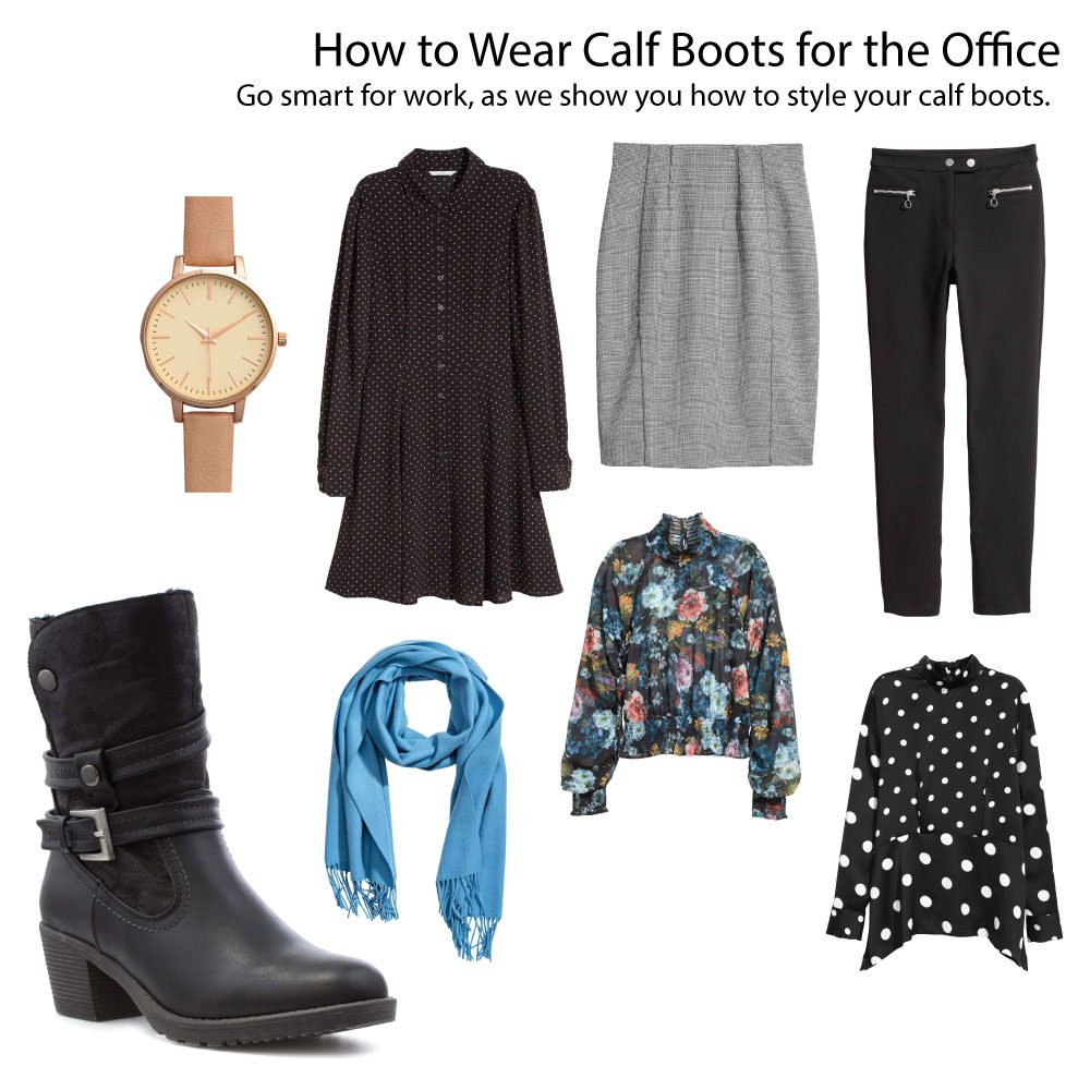 Calf-Boots-Office