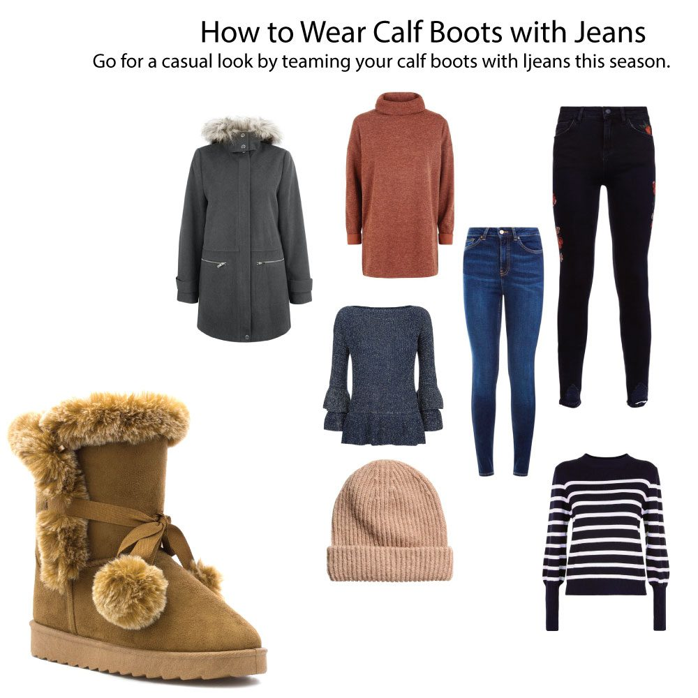 Calf-Boots-With-Jeans