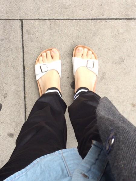White Mule Sandals