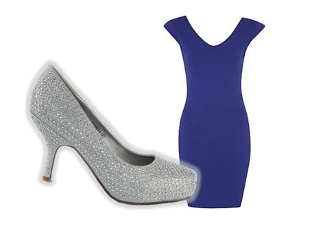 Diamante Court Heels