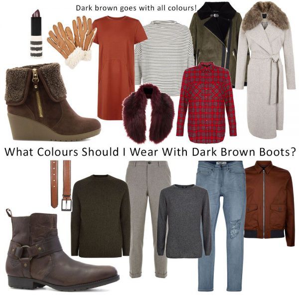 Styling-Dark-Brown-Boots-Womens-And-Mens