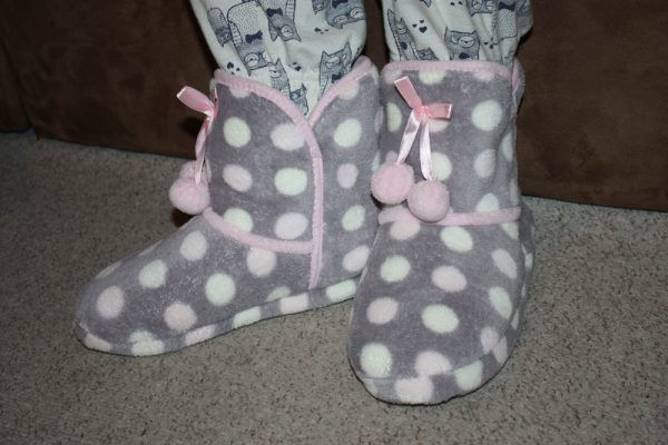 Emma Button Bootie Slippers