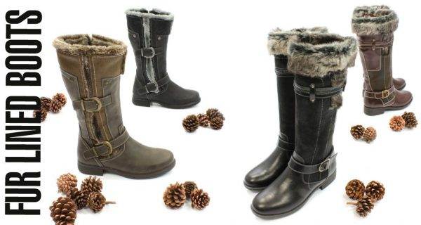 Autumn Winter Fur Lined Long Leg Boots