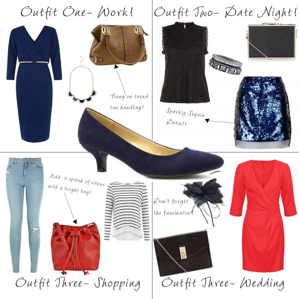 How to Wear Navy Heels