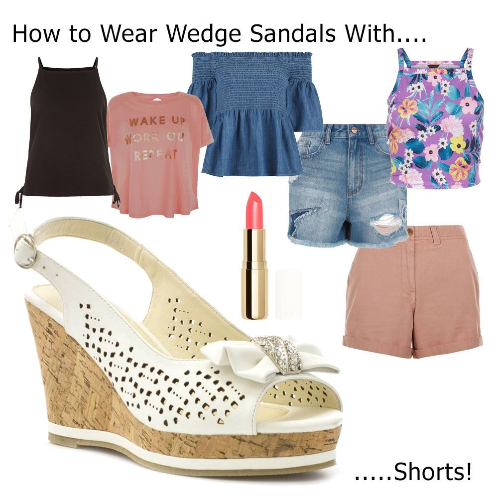 How to wedge wear sandals with shorts