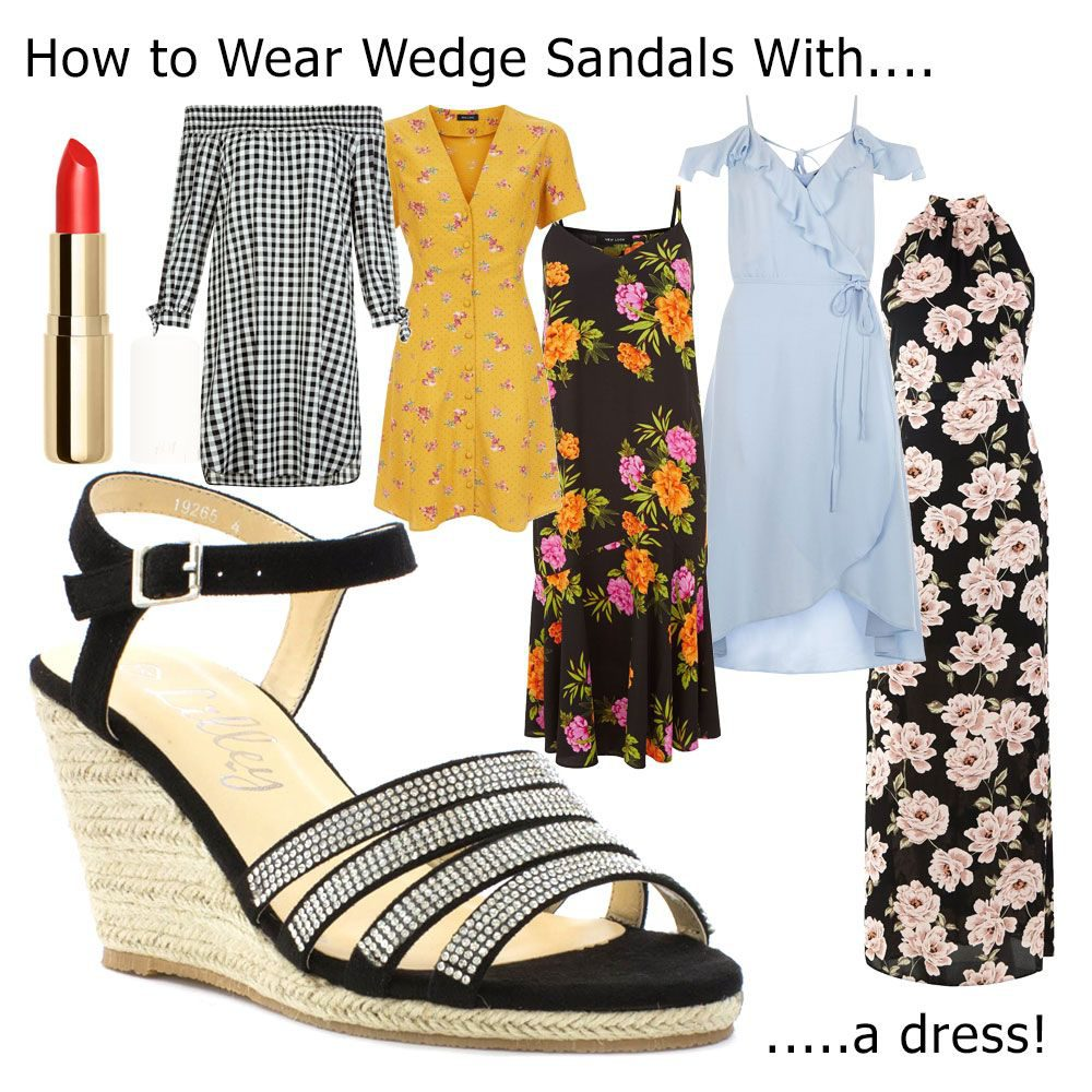 How-To-Wear-Wedges-With-A-Dress