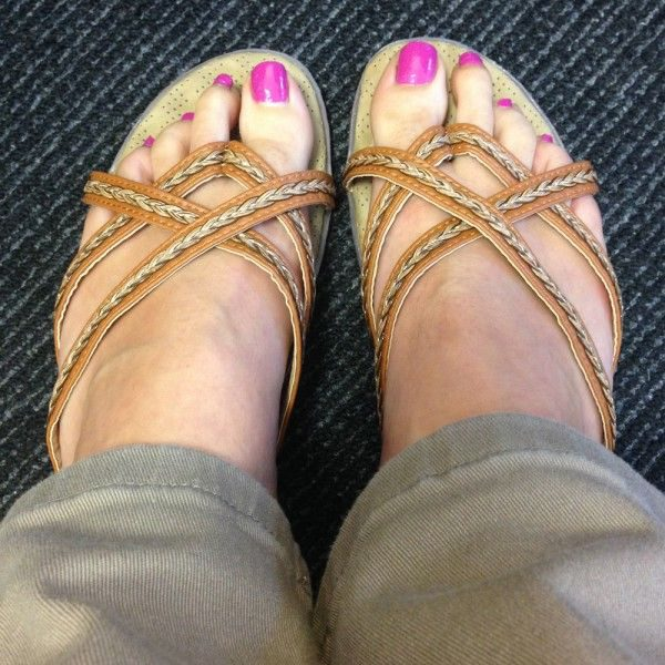 Styling Sandals for Work