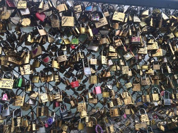 Parisian Bridge Locks