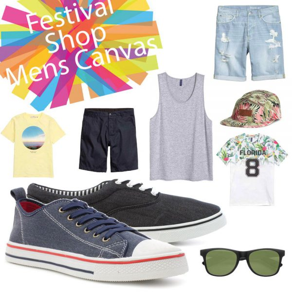 Mens Festival Style Canvas Shoes