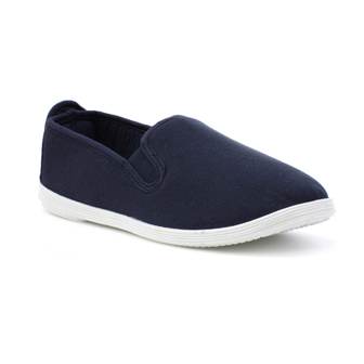 Navy-Canvas-Pump