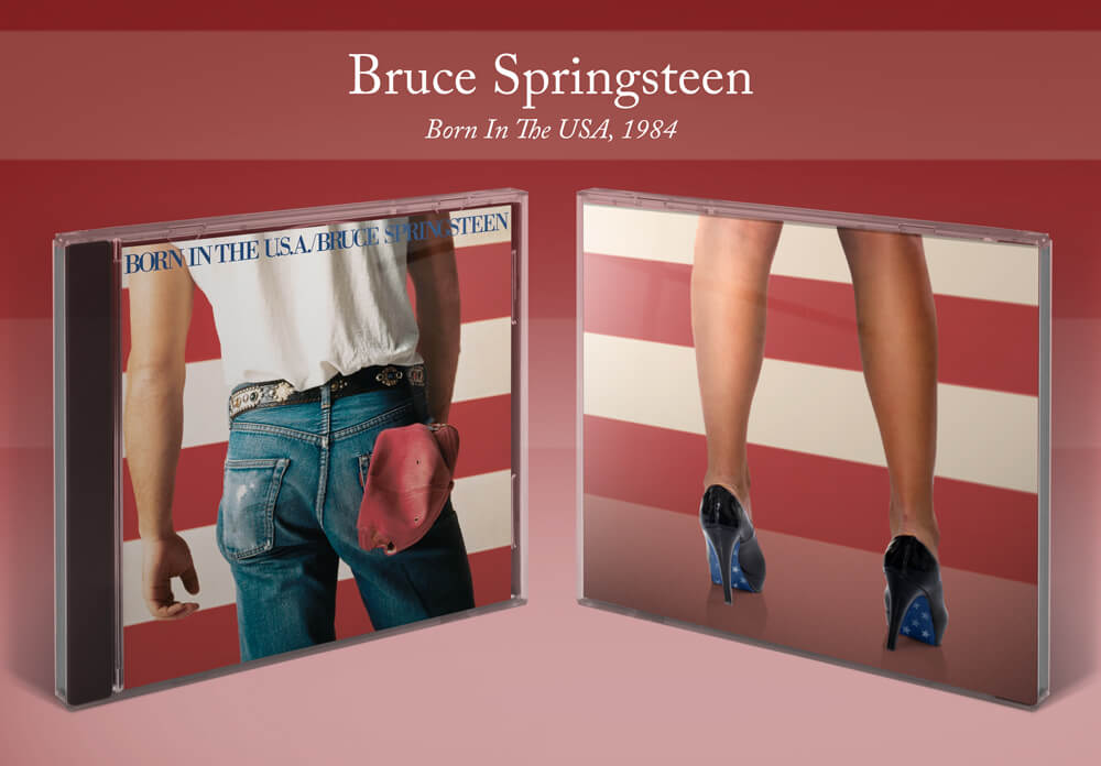 Bruce Springsteen Born in the USA album cover with heels