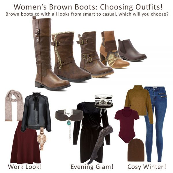 How-To-Wear-Womens-Dark-Brown-Boots