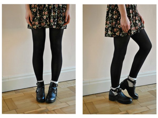 Styling Cut Out Ankle Boots With Socks