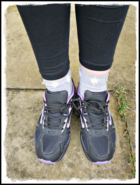 Black and Purple Trainers