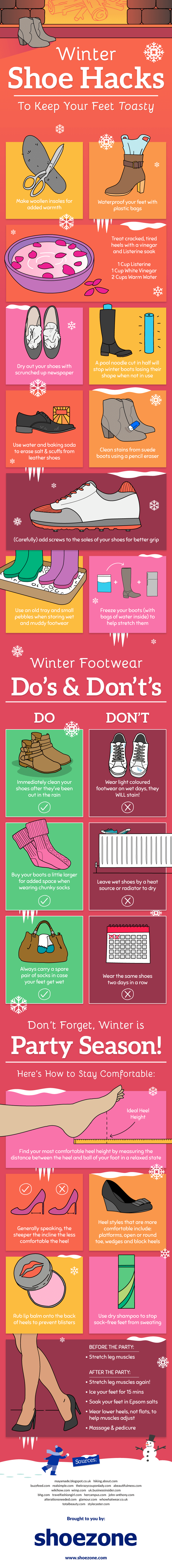 Winter Shoe Hacks
