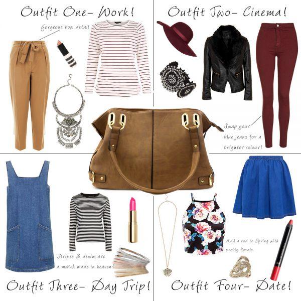 How to Style a Tan Handbag