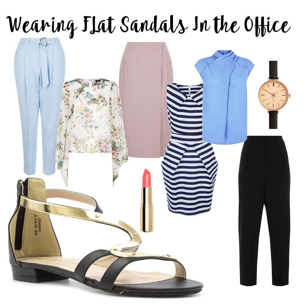 flat-sandals-in-office