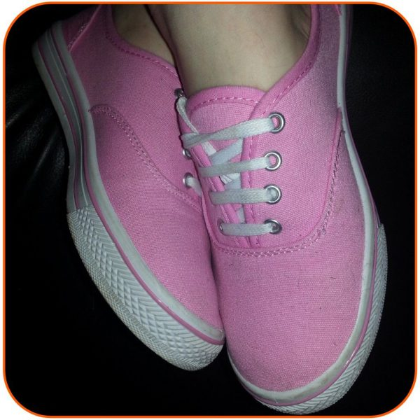Styling Pink Canvas Shoes