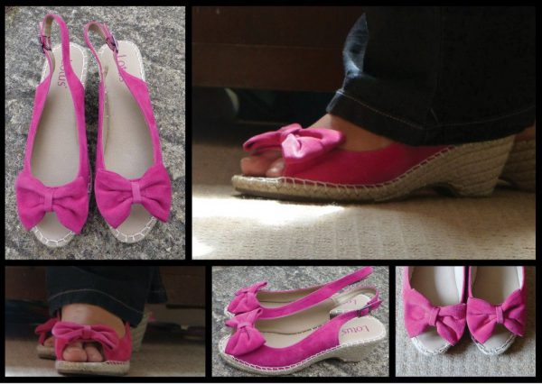 How to Wear Pink Leather Wedges