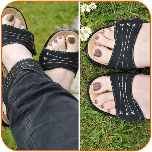 Styling Black Comfort Sandals