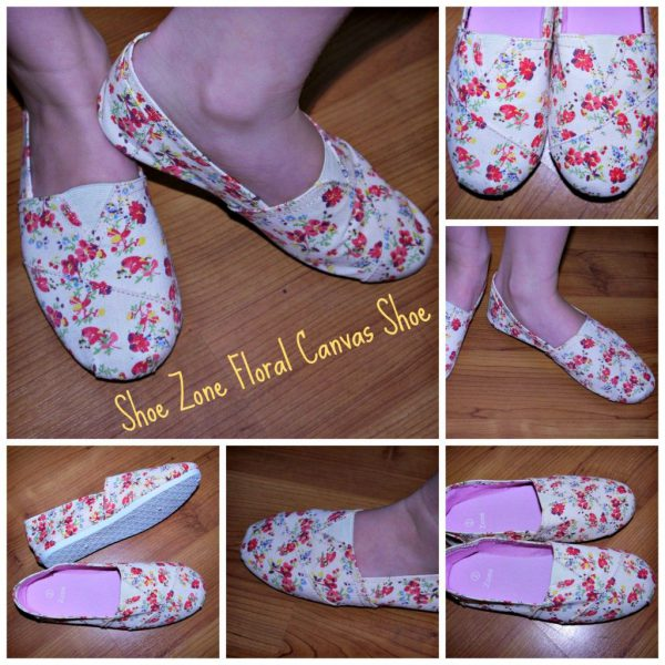 Girls Floral Canvas Shoe