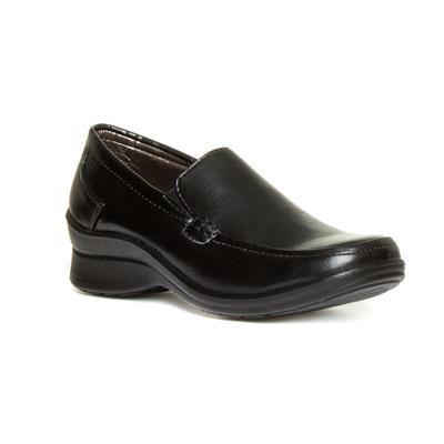 Womens Black Casual Slip On Shoe