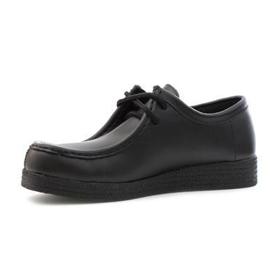 moderate price luxury fashion exceptional range of styles and colors Womens Smart Coated Leather Lace Up Shoe in Black
