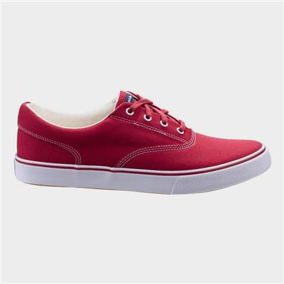 Byanca Lace Up Trainer in Red