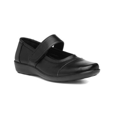 Womens Easy Fasten Shoe in Black