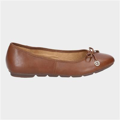 Womens Abby Bow Ballet in Brown