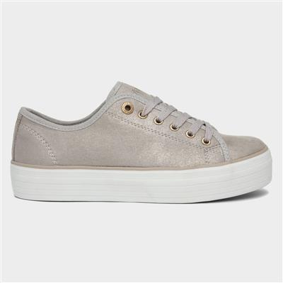 Java Womens Rose Gold Lace Up Shoe