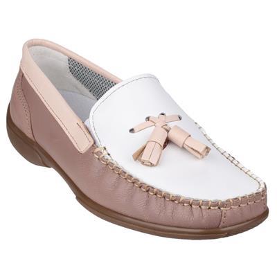 Womens Biddlestone Beige Leather Shoe