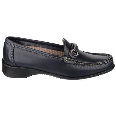 Womens Barrington Navy Leather Shoes