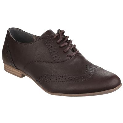 Womens Levato Lace Up Brogue Shoe in Brown