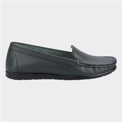 Womens Tiggy Green Leather Shoe