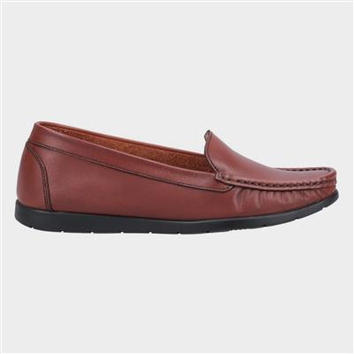 Womens Tiggy Tan Leather Loafer
