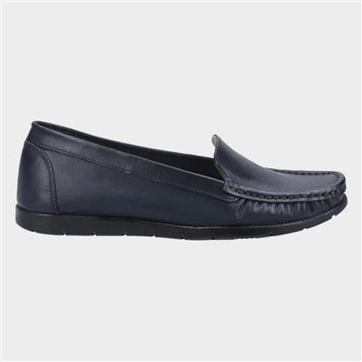 Womens Tiggy Leather Loafer in Navy