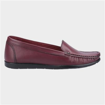 Womens Tiggy Red Leather Loafer