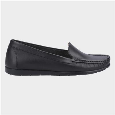 Womens Tiggy Black Leather Shoe