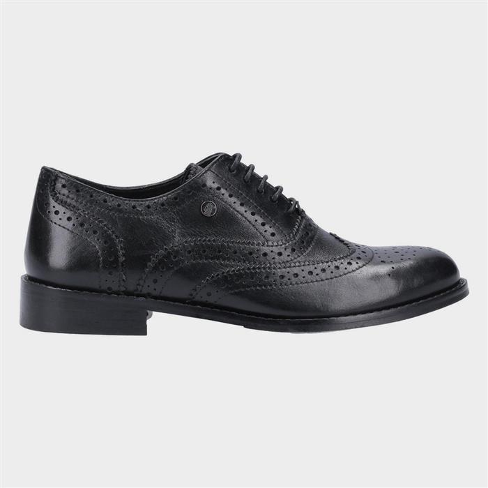 Vintage Shoes UK – 40s, 50s, 60s, 70s Hush Puppies Womens Natalie Black Leather Shoes £49.99 AT vintagedancer.com