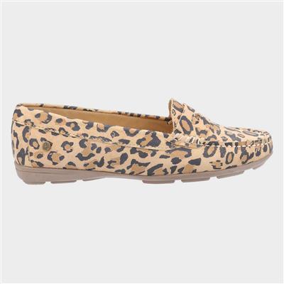 Margot Womens Suede Leopard Loafer