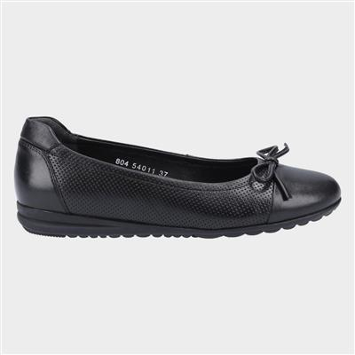 Jolene Womens Leather Shoe in Black