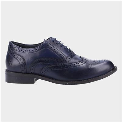 Natalie Womens Navy Leather Brogue