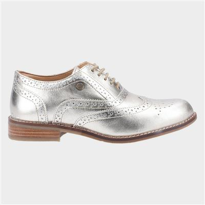 Natalie Womens Gold Leather Brogue