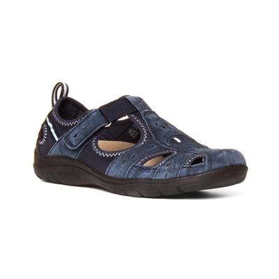 Cleveland Womens Navy Leather Shoe