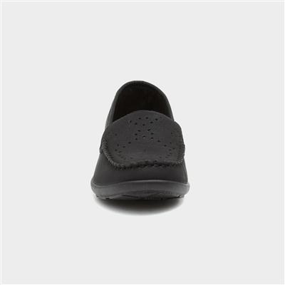 softlites womens black slip on casual loafer12227  shoe zone